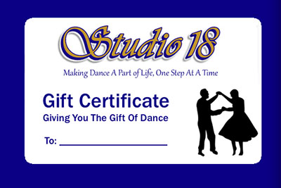 Studio 18 Gift Certificate