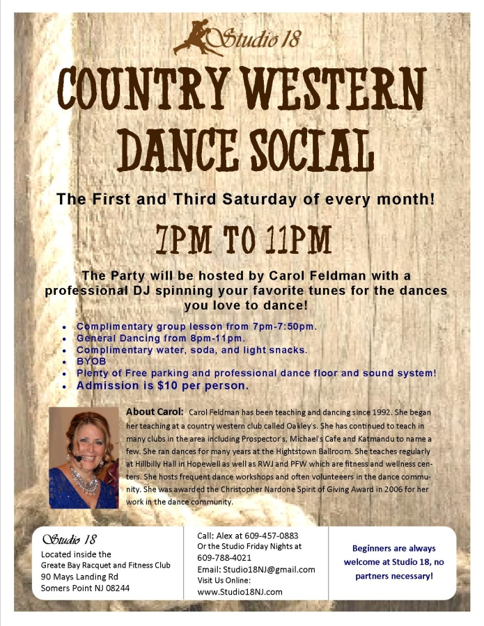 country western dance flyer NEW sept13