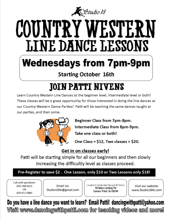countrylinedance lessons with patti oct 2013 NEW