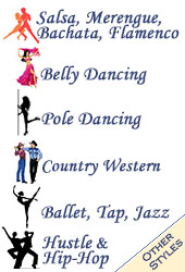 Other Dancing (Pole, Belly, Club, Country & Western, Hustle, Salsa, Ballet & Jazz)