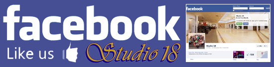 Like Studio 18 on Facebook